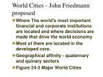 world cities john friedmann proposed