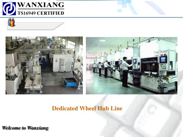 Dedicated Wheel Hub Line