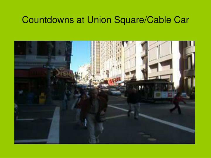 Countdowns at Union Square/Cable Car