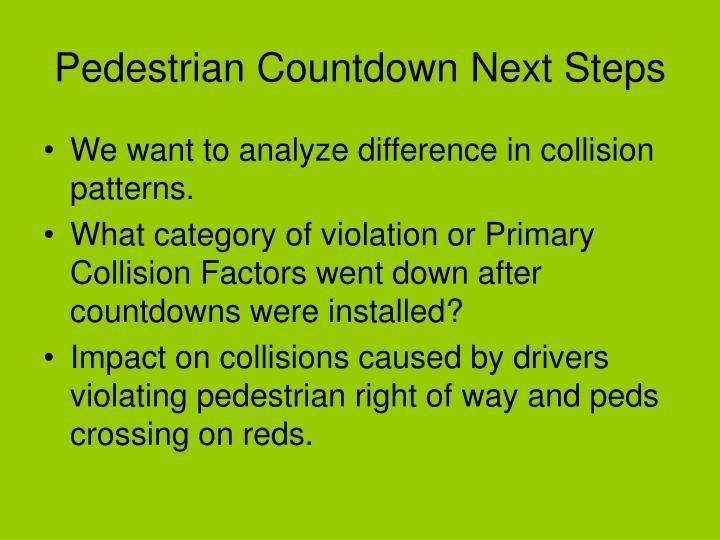 Pedestrian Countdown Next Steps