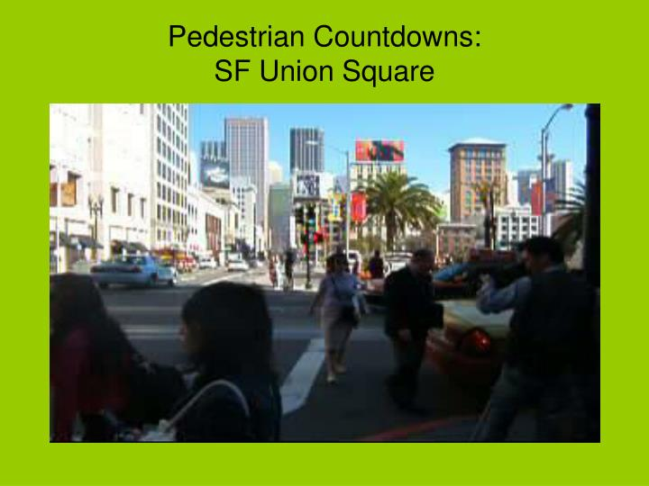 Pedestrian Countdowns:
