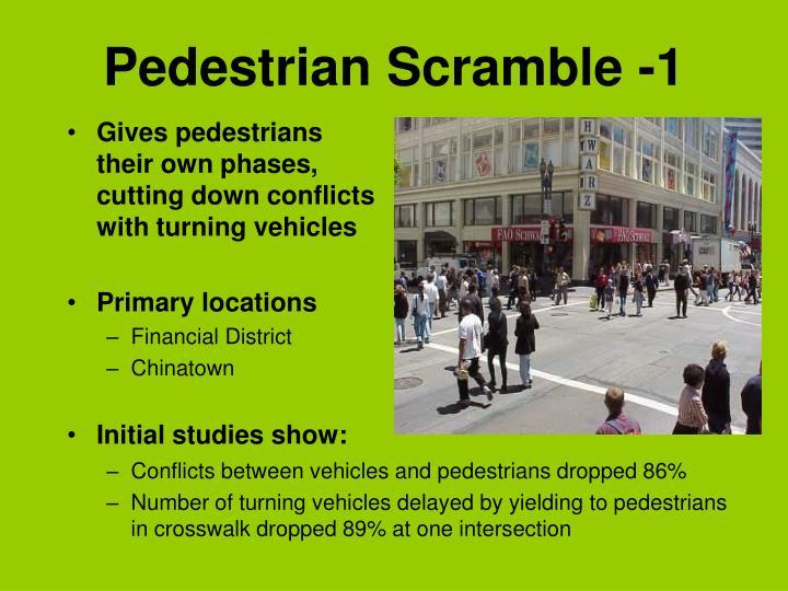 Pedestrian Scramble -1