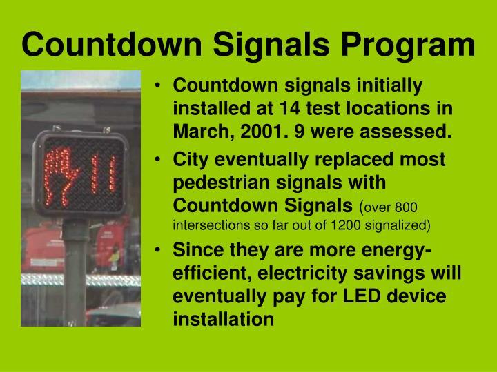Countdown Signals Program