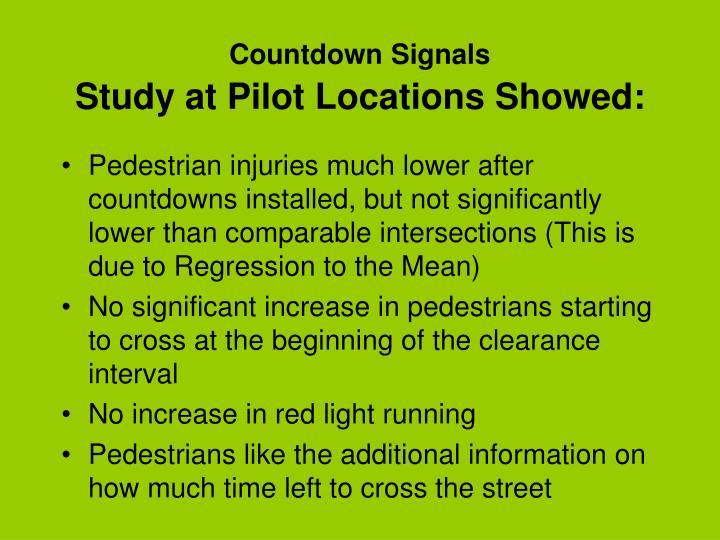 Countdown Signals
