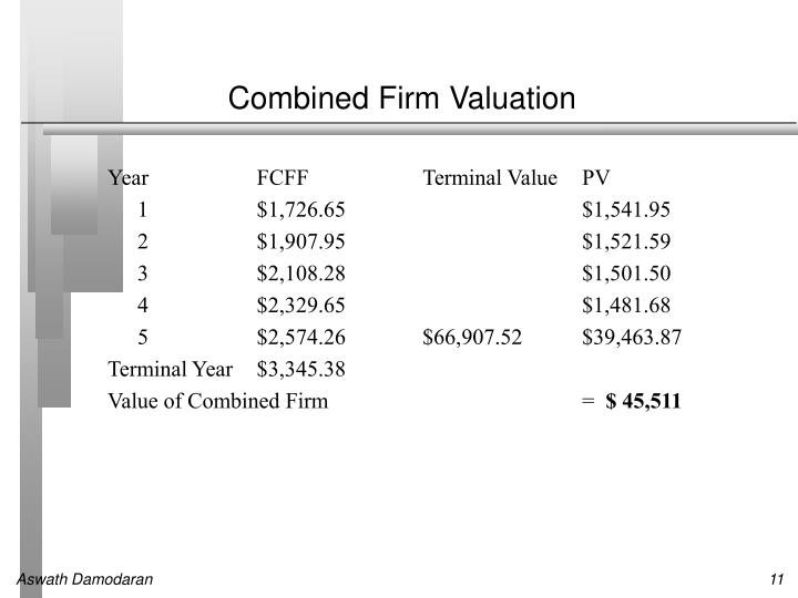 Combined Firm Valuation