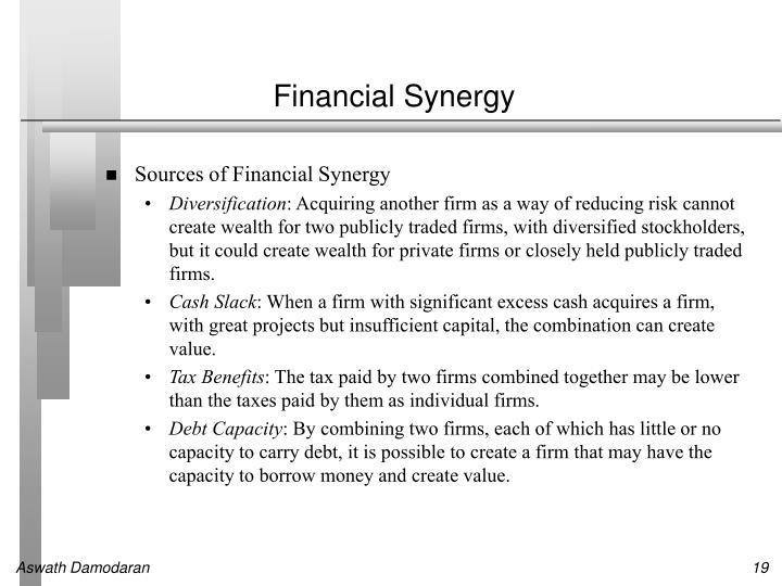 Financial Synergy