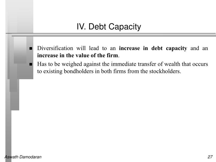 IV. Debt Capacity