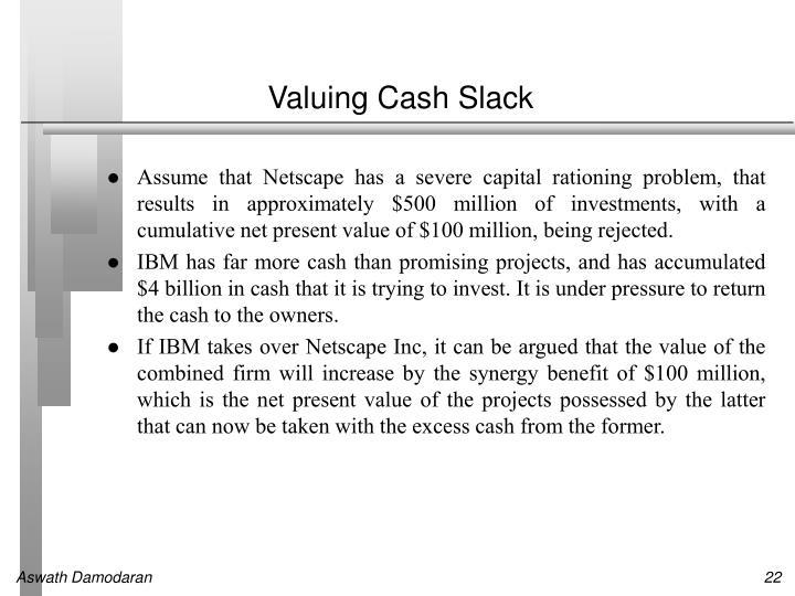 Valuing Cash Slack