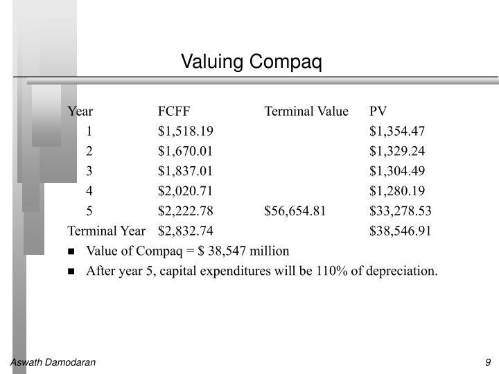 Valuing Compaq
