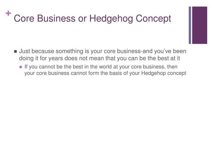 Core Business or Hedgehog Concept