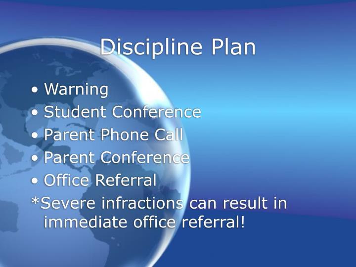 Discipline Plan