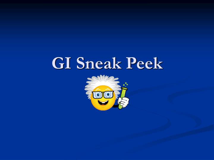 GI Sneak Peek