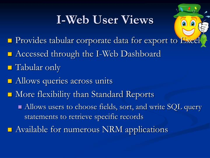 I-Web User Views