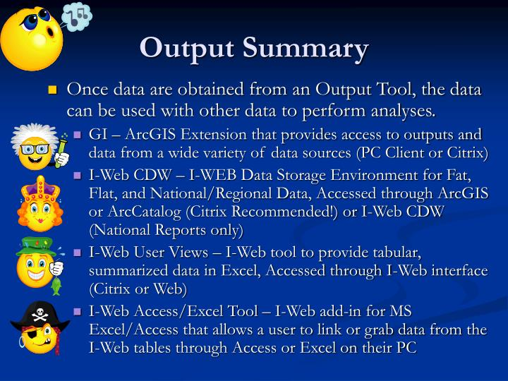 Output Summary