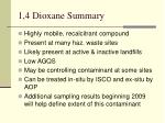 1 4 dioxane summary