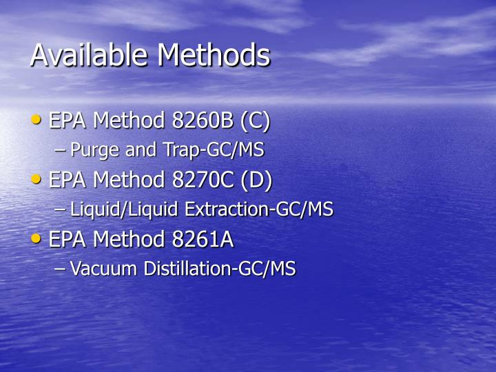 Available Methods