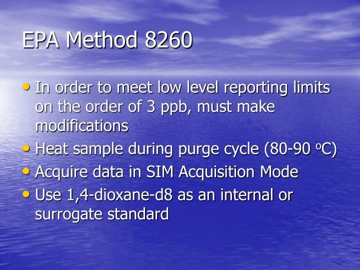 EPA Method 8260