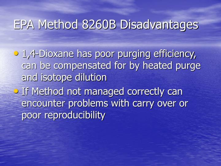 EPA Method 8260B Disadvantages