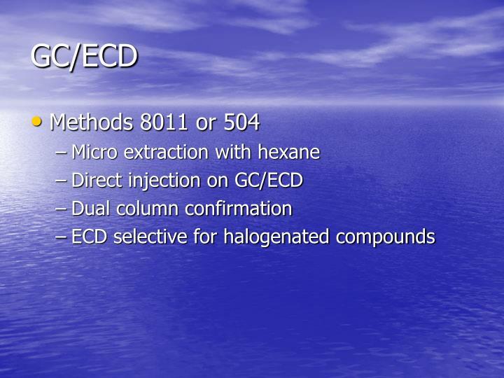 GC/ECD