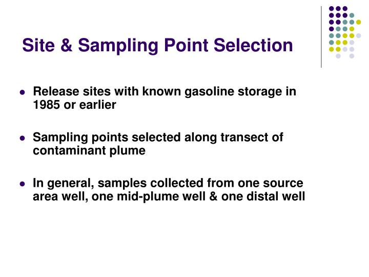 Site & Sampling Point Selection