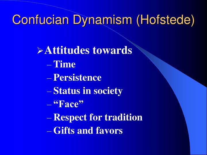 Confucian Dynamism (Hofstede)