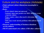culture and the workplace hofstede