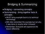 bridging summarizing