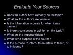 evaluate your sources1