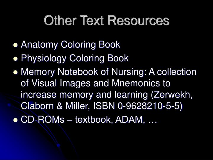 Other Text Resources