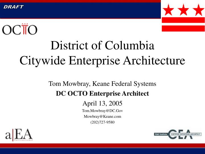 District of columbia citywide enterprise architecture