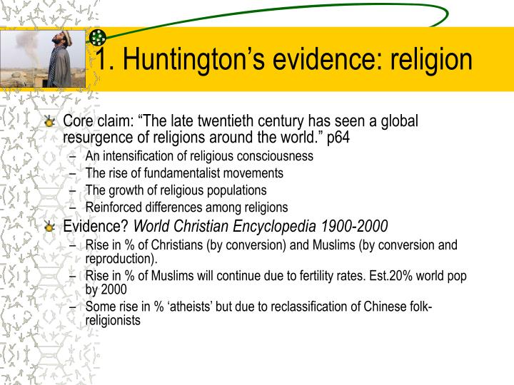 1. Huntington's evidence: religion