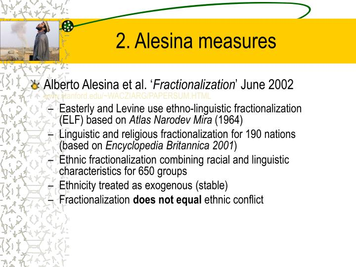 2. Alesina measures