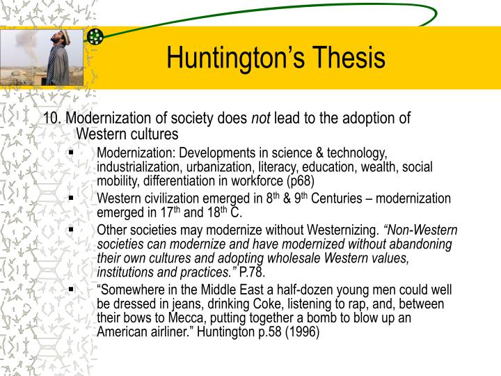Huntington's Thesis