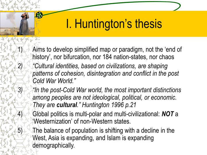 I. Huntington's thesis