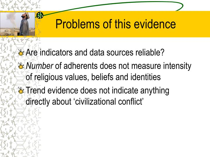 Problems of this evidence