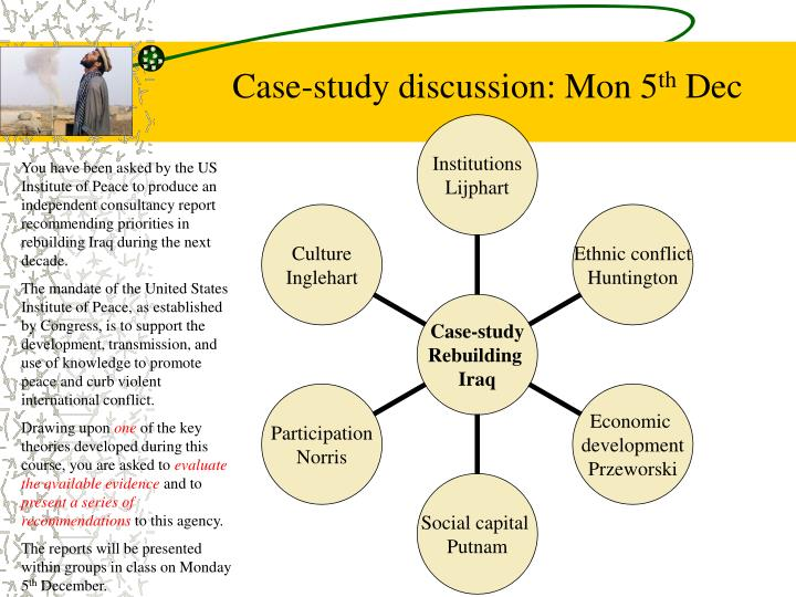 Case-study discussion: Mon 5