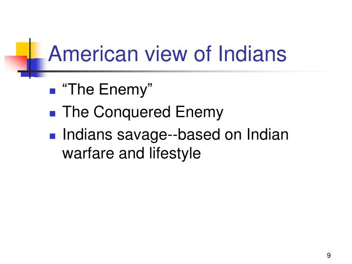 American view of Indians