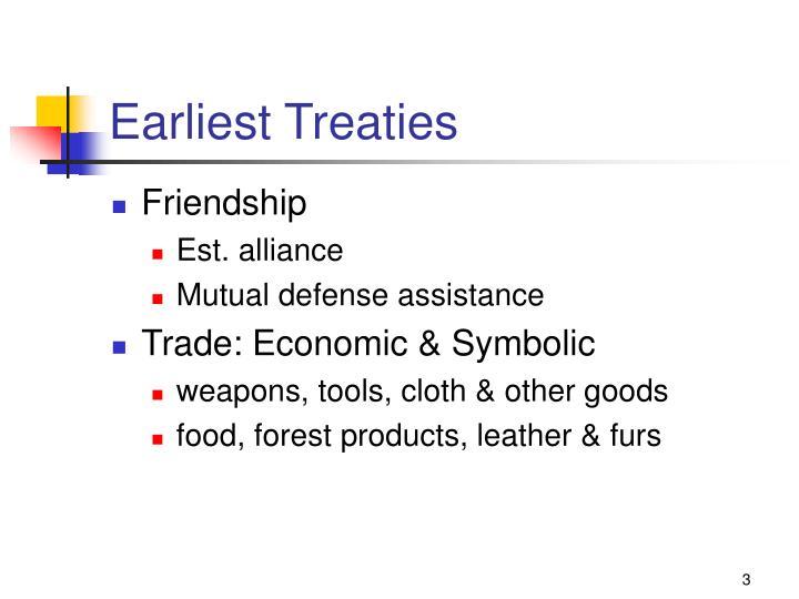 Earliest Treaties