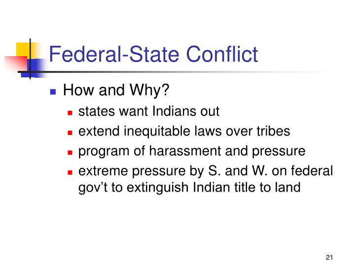 Federal-State Conflict