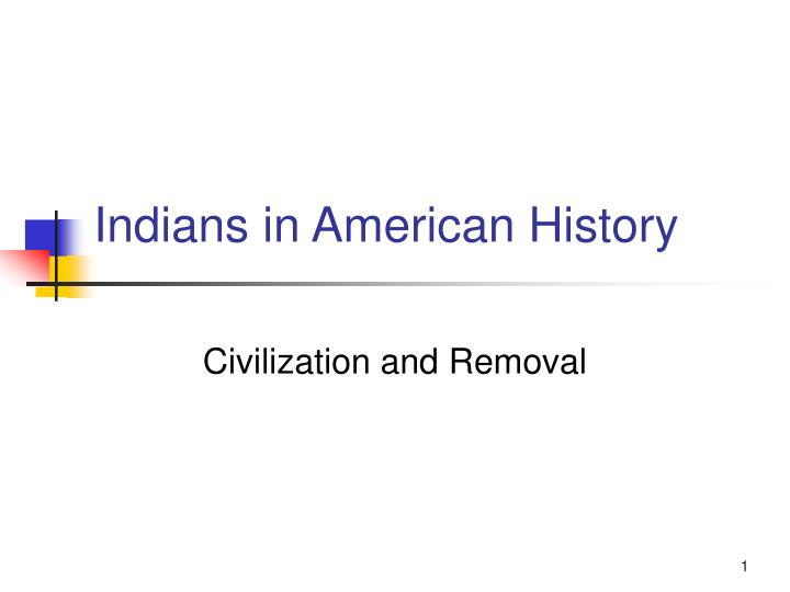 indians in american history
