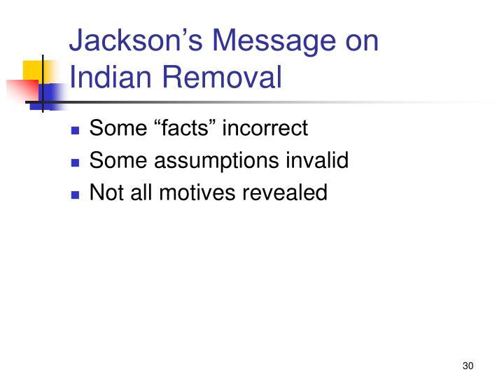 Jackson's Message on