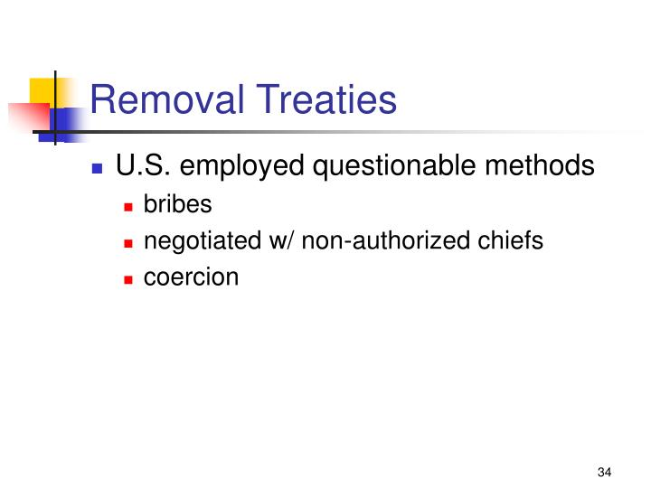 Removal Treaties