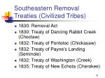 southeastern removal treaties civilized tribes