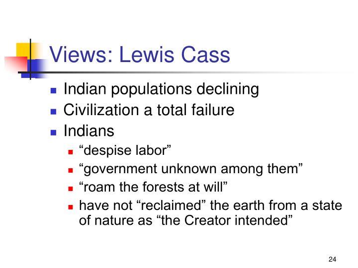 Views: Lewis Cass