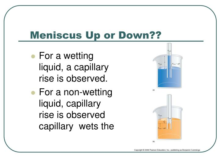 Meniscus Up or Down??