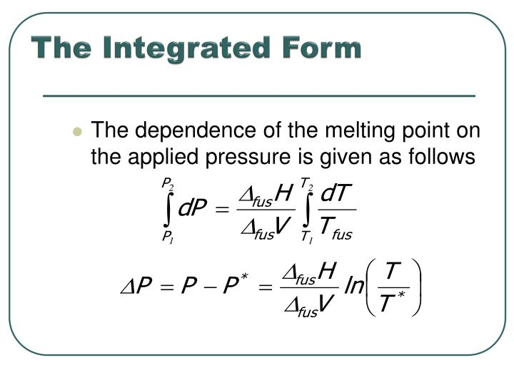 The Integrated Form