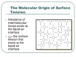 the molecular origin of surface tension