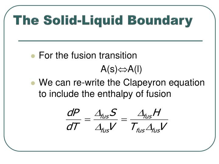The Solid-Liquid Boundary