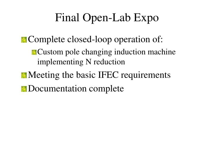 Final Open-Lab Expo