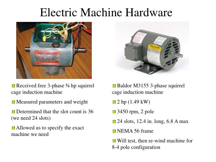 Electric Machine Hardware